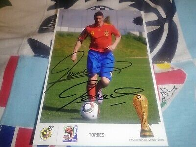 £53.69 • Buy Fernando Torres Hand Signed Spain World Cup Autograph Card Very Rare