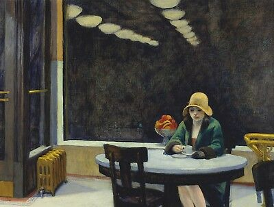 £19.99 • Buy EDWARD HOPPER Automat  Canvas Print Picture 20 X 30 Inch Stretched Over Frame