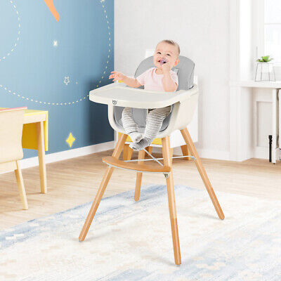 3 In 1 Baby High Chair Infant Adjustable Feeding Seat Toddler Table Chair • 59.99£