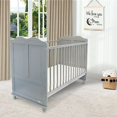 £99.95 • Buy ISafe Baby Cot Bed Toddler Bed Junior CotBed Adam (Grey) (Including Mattress)