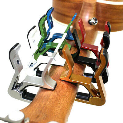 AU4.83 • Buy Premium Metal Capo Quick Change Trigger Clamp For Guitar Ukulele Accessories
