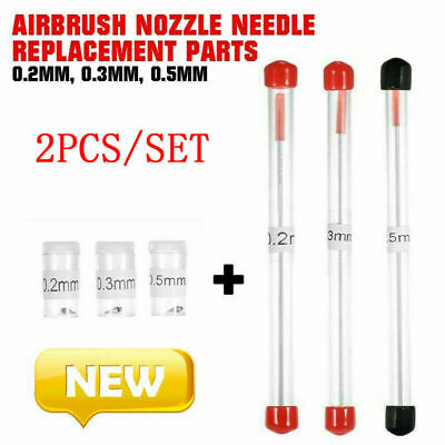 £3.44 • Buy 0.2/0.3/0.5mm Tool Set Airbrush Nozzle & Needle Replacement For Airbrushes Spray