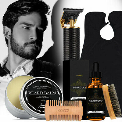 $28.19 • Buy Mens Electric Hair Clippers Trimmer Barber & Beard Grooming Beard Care Kit NEW