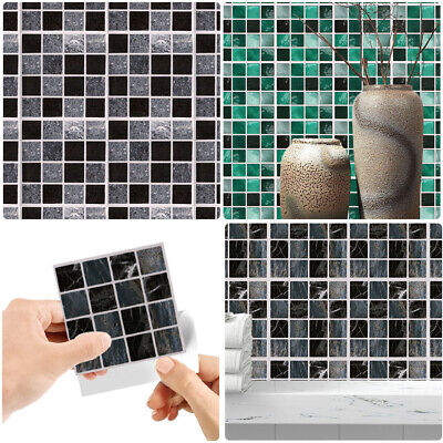30PC Kitchen Tile Stickers Bathroom Mosaic Sticker Self-adhesive Wall Home Decor • 4.51£