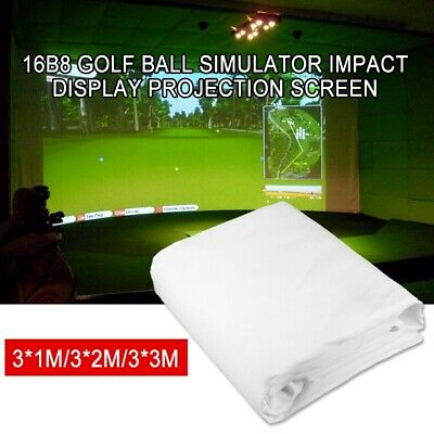 Golf Ball Simulator Impact Display Indoor Home Projection Screen 300X200cm • 111.92£
