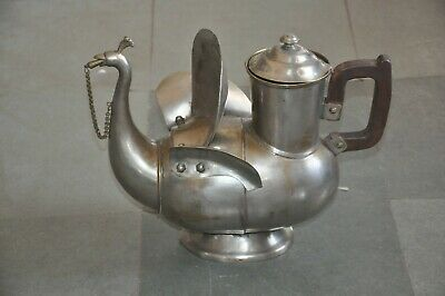£72.47 • Buy Old Brass Nickel Plated Peacock Shape Big Handcrafted Tea Kettle
