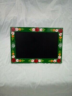 £8 • Buy Green Chalk Memo Board Roses And Castles Hand Painted Barge Ware #01