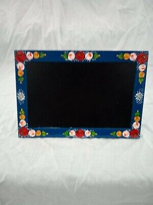 £8 • Buy Blue Chalk Memo Board Roses And Castles Hand Painted Barge Ware #01