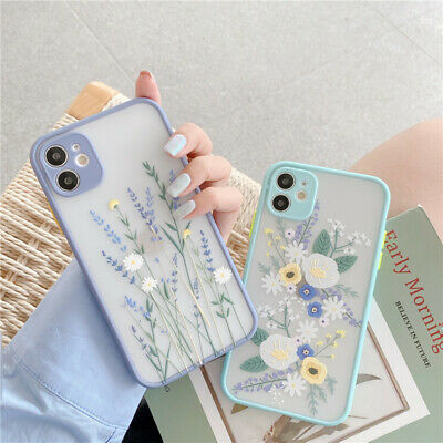 Case For IPhone 12 11 Pro Max XR X 7 8 Plus SE  Flower ShockProof SILICONE Cover • 3.95£