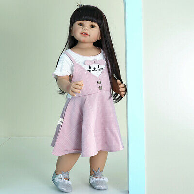 $ CDN277.08 • Buy 28inch Reborn Dolls Standing Girls Realistic Baby Dolls Toddler Girls Full Vinyl