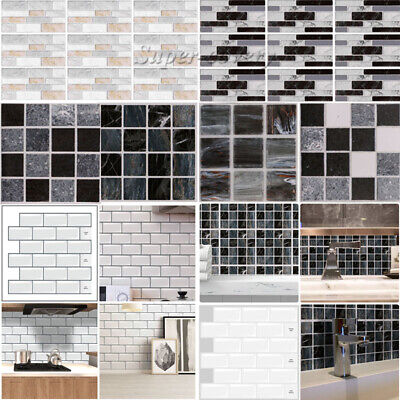 Self-Adhesive Kitchen Wall Tiles Bathroom Mosaic Brick Sticker Peel & Stick UK • 4.52£