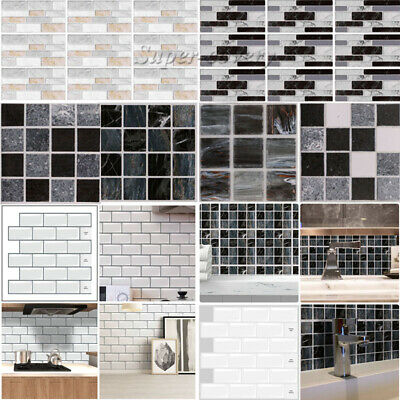 Self-Adhesive Kitchen Wall Tiles Bathroom Mosaic Brick Sticker Peel & Stick UK • 4.75£