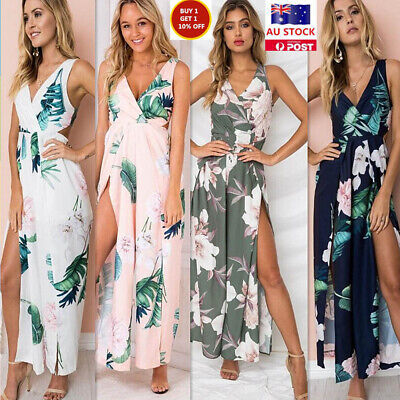 AU12.99 • Buy Ladies Sexy Fashion Beachwear Dress Jumpsuit Colorful Casual Beachwear Dress