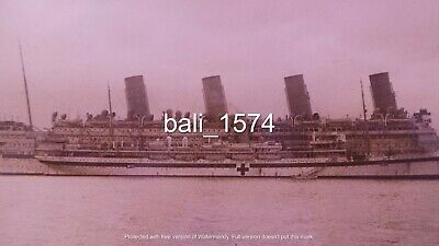 Original Ww1 Real Photo Gallipoli - Rms Aquitania & Another Hospital Ship  • 59.95£
