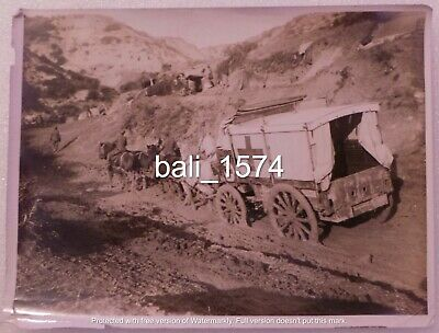Original Ww1 Real Photo Gallipoli - Horse & Cart Field Ambulance In Mud Track • 39.95£