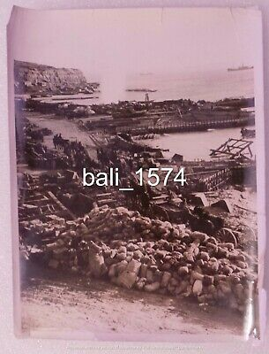 Original Ww1 Real Photo Gallipoli - Beach Scene - Horses / Carts / Supplies • 24.95£