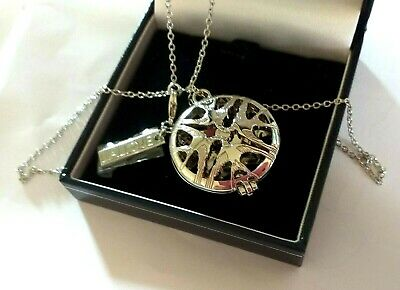 LALIQUE HIRONDELLE Swallows Round Perfume Diffuser Necklace Pendant /Chain ~FAB • 120£