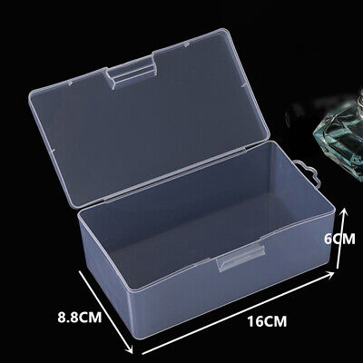 £5.67 • Buy Organiser Storage Box Plastic Rectangular Transparent Bank Cards With Lid