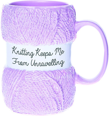 £12.46 • Buy Boxer Gifts Keeps Me From Unraveling Novelty Knitting Mug | Realistic Matte Yarn