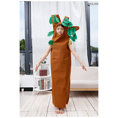 HALLOWEEN GIFT Brown Tree Outfit Unisex Child Kids Cosplay Party Costume 2-7Year • 12.99£