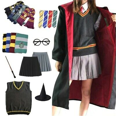 $ CDN23.94 • Buy Harry Potter Robe Cloak Hermione Skirt Tie Sweater Shirt Scarf Cosplay Costume