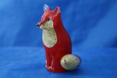 Langham Glass Hand-made Crystal Small Fox Sitting - Brand New / Boxed • 42.95£