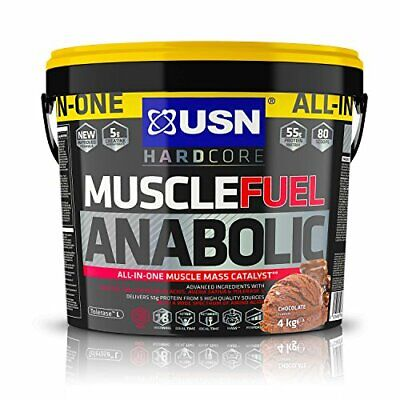 £58.87 • Buy USN Muscle Fuel Anabolic Chocolate 4KG, Performance Boosting Muscle Gain Protein