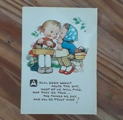 Rare Vintage Mabel Lucie Atwell Illustrated Postcard • 4£