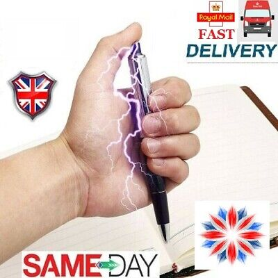 Electric Shock Pen Utility Gadget Gag Novelty  Practical Joke Funny Prank Trick  • 2.10£
