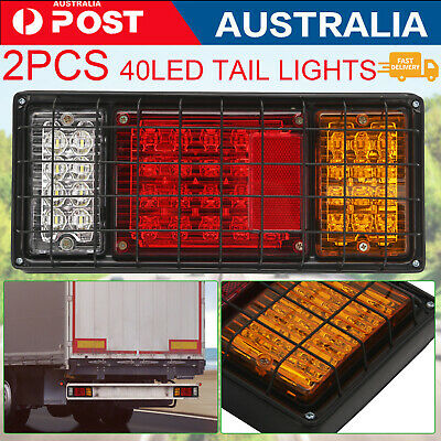 AU21.99 • Buy 2X Submersible/Waterproof 40 LED Stop Tail Lights Kit Boat Truck Trailer Lights