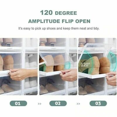 AU12.95 • Buy Push-Pull Stronger Shoes Box Rack Fordable Organizer Stackable Storage Dampproor