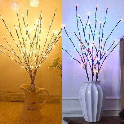 20LED Branch Twig Lights Light Up Willow Branches Battery Power Christmas Decor • 6.89£