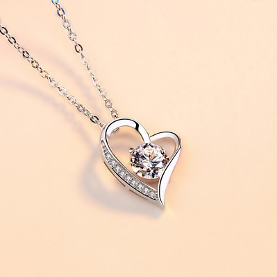 AU19.18 • Buy Valentines Day Gifts For Her 925 Sterling Silver Female One Carat Necklace