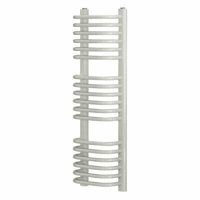 Cap22gc037 Curved D-bar Towel Radiator 900 Colour White Central Heating Systems • 50.99£