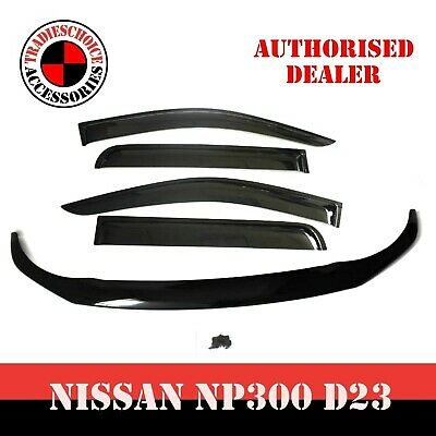 AU107.99 • Buy For Navara NP300 D23 Bonnet Protector Guard And Weather Shields Visors 2014-2020