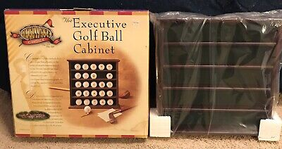 New/Open Box Ultimate Choice Executive 25 Golf Balls Wood Display Cabinet Rack • 15.20£