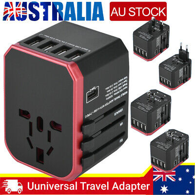 AU26.46 • Buy Universal International Travel Adapter 4 USB Power Plug Charger Converter Socket