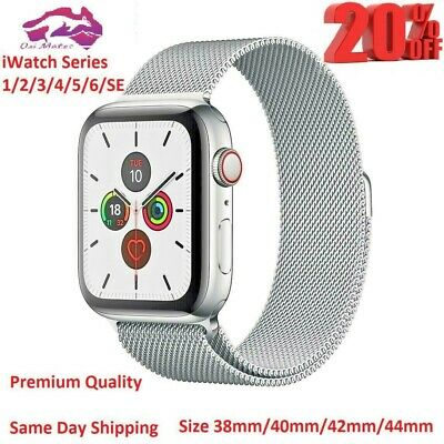 AU5.99 • Buy For Apple Watch Wrist Band Series 6 5 4 3 2 1 SE Magnetic Stainless Steel Strap