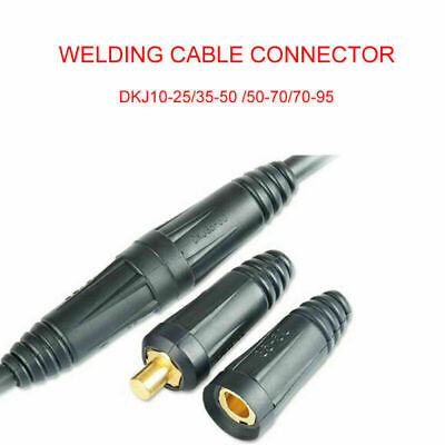 Male Female Copper Cable Connector Welder Quick Fitting Socket Plug Welding Tool • 3.57£