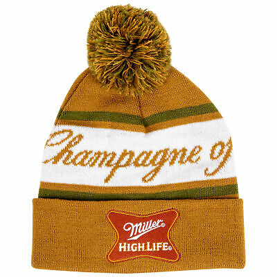 $26.98 • Buy Miller High Life The Champagne Of Beers Knit Cuffed Beanie Yellow