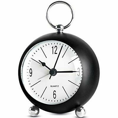 £12.99 • Buy Alarm Clock Non Ticking Silent Bedside Clocks For Bedroom Battery Operated Black