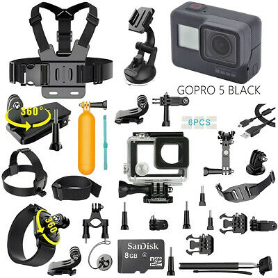 $ CDN275.27 • Buy  GoPro Hero 5 Black Edition Action Camera With 40PCS Sports Accessory Bundle