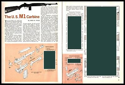 $12.85 • Buy 1962 U.S. M1 Carbine Exploded View Parts List  2-page Assembly Article
