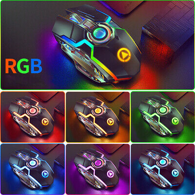 AU25.98 • Buy Wireless Mouse Gaming Silent Laser Optical 2.4GHz Game USB Rechargeable Laptop