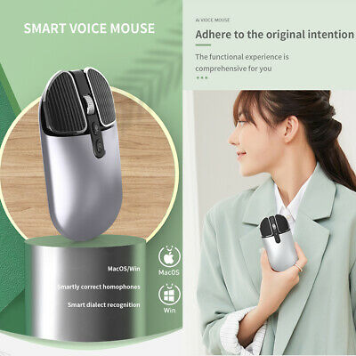 AU44.98 • Buy New Ai Smart Mouse Voice Control Easy Typing Wireless Translator 2.4G Mouse AU