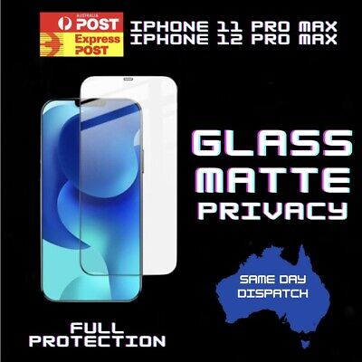 AU9.95 • Buy 1X Tempered Glass Privacy Matt Matte Screen Protector IPhone 11 Pro Max Quality