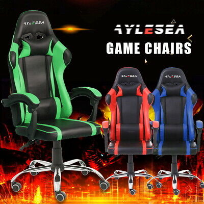 AU119 • Buy Executive Gaming Chair Seat Office Computer Racer Recliner Chairs PU Leather