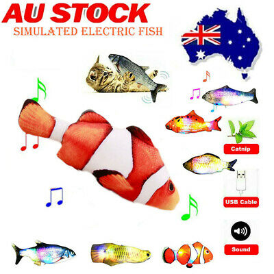 AU10.95 • Buy Simulated Electric Fish Kicker Cat Toy Wagging Realistic Moves USB Rechargeable
