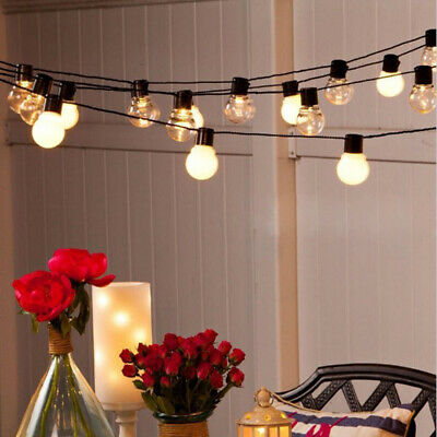 20led Bulb String Lights Outdoor Indoor Wedding Party Festoon Globe Fairy Lamp • 11.86£