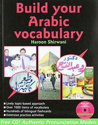 Build Your Arabic Vocabulary (Book CD & Flashcards) By Haroon Shirwani, NEW Book • 14.31£